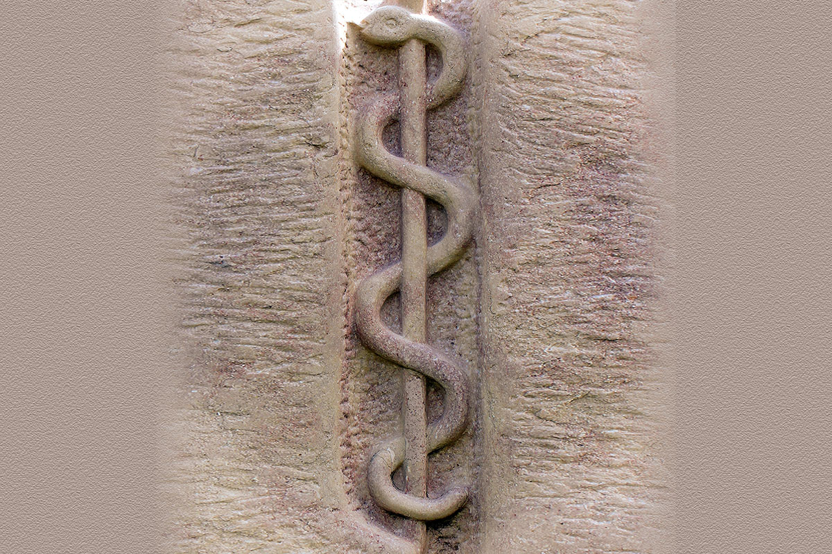 Staff of Asclepius, God of Healing