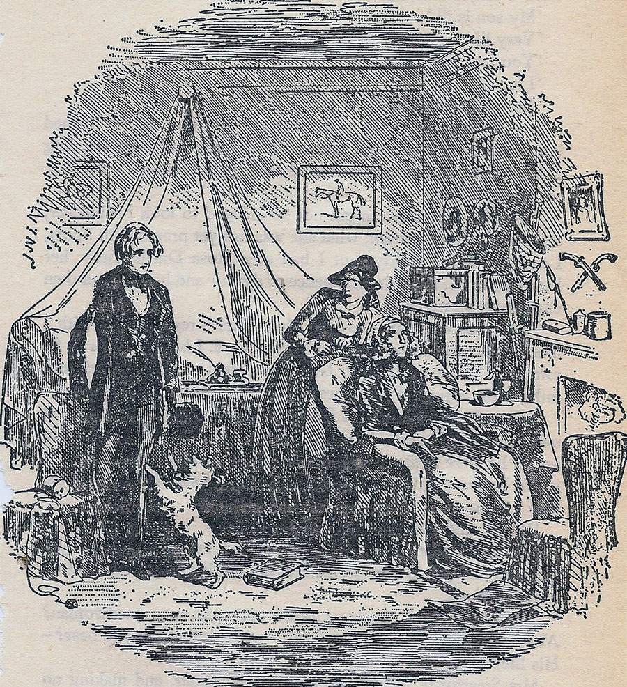 Phiz illustration of Rosa Dartle from David Copperfield by Charles Dickens